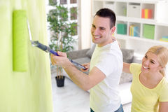 Painting home Stock Image