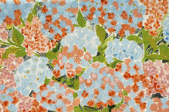 Painting of hortensia flowers Stock Photos
