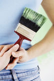 Painting the house Royalty Free Stock Photography