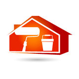 Painting houses Stock Photography