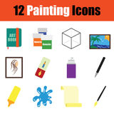 Painting  icon set Royalty Free Stock Images