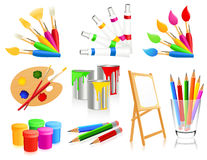 Painting icons Stock Photo