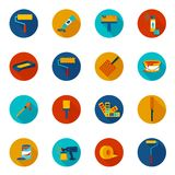 Painting icons colored Royalty Free Stock Photos