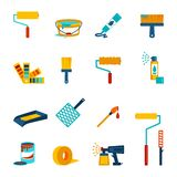 Painting icons flat Stock Photo