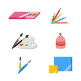 Painting icons, vector illustration, eps 10, flat Royalty Free Stock Photo