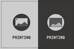 Painting Illustration. A clean and simple painting illustration royalty free illustration