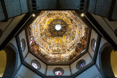 Painting inside Brunelleschi cupola Stock Image