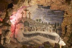 Painting inside the Crystal Shrine Grotto Stock Photos
