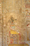 Painting inside the Mortuary Temple of Hatshepsut Stock Image