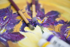Painting Irises Stock Photography