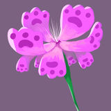 Painting isolate fantasy flower purple Stock Images