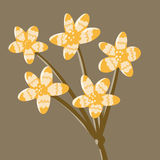 Painting isolate fantasy flower yellow Royalty Free Stock Photography