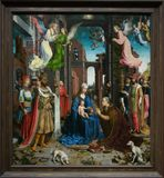 A painting by Jan Gossaert in the National Gallery in London Royalty Free Stock Images