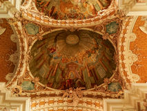 Painting in Jesuit Church Innsbruck Stock Image