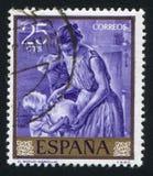 Painting of Jug. SPAIN - CIRCA 1964: stamp printed by Spain, shows painting of Jug, circa 1964 Royalty Free Stock Image