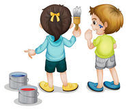 Painting kids Stock Photo