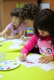 Painting at kindergarten Stock Photos