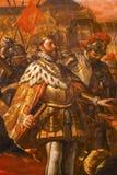 Painting King Ferdinand III Castile Mezquita Cordoba Spain Stock Photo