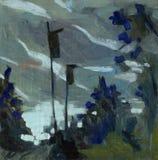 Painting landscape royalty free stock image