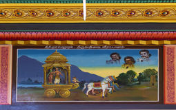 Painting of legend of Thriuvathigai Temple. Royalty Free Stock Images