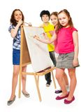 Painting Lesson Stock Photos