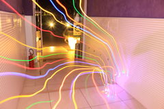 Painting. Light painting photography that i did in my house Royalty Free Stock Images