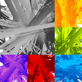 Painting-like smeared, smudged random artistic texture set. Royalty free vector illustration Royalty Free Stock Photo