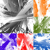 Painting-like smeared, smudged random artistic texture set. Royalty free vector illustration Stock Photos