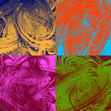Painting-like smeared, smudged random artistic texture set. Royalty free vector illustration Stock Photo