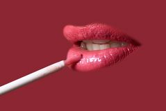 Painting  lips Royalty Free Stock Photography