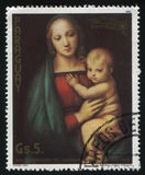 Painting The Littla Madonna by Raphael Royalty Free Stock Photography