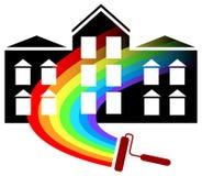 Painting logo design vector illustration