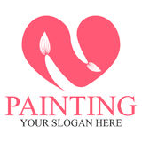 Painting logo template Stock Image