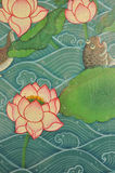 Painting lotus Royalty Free Stock Image