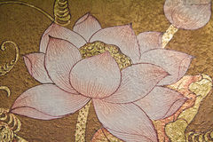 Painting lotus Stock Images