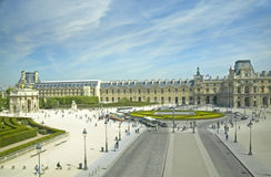 Painting of the Louvre Museum, Louvre, Paris, France Stock Photo