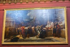 Painting in Louvre museum Royalty Free Stock Photos