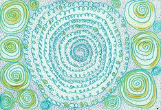 Lace spirals stock images
