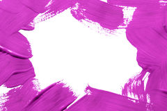 Painting. Magenta pink painted frame on white background Royalty Free Stock Photo