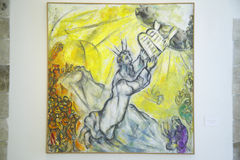 Painting by Marc Chagall, Marc Chagall Museum, Nice, France Royalty Free Stock Photography