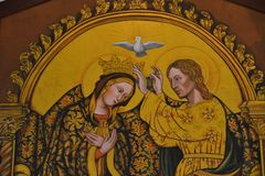 The Marry of Peace. Painting of the Marry of Peace royalty free stock photo