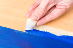 Painting with masking tape Royalty Free Stock Image