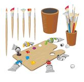 Painting material collection Stock Photography