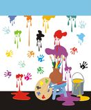 Painting Mess Royalty Free Stock Images