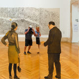 Painting on the mirror in Modern Art National Museum in Rome Ita Stock Photo
