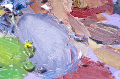 Painting mixed colors. Closeup of painting mixed colors Stock Photos
