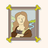 Painting mona lisa theme elements vector,eps Stock Photography