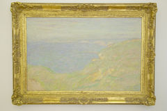 Painting by Monet at Museum of Fine Arts, Nice, France Stock Images