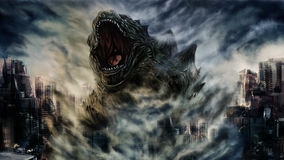 Painting monster Royalty Free Stock Photo