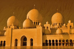 Painting of Mosque. stock illustration